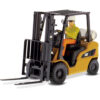Cat Caterpillar P5000 Lift Truck With Operator Core Classics Series 1 25 Diecast Model By Diecast Masters 85223 Left Front View